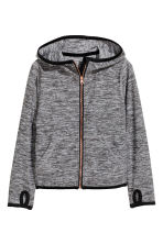 Sports jacket with a hood - Dark grey marl - Kids | H&M CN 2